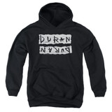 Duran Duran Print Error Youth Pullover Hoodie Sweatshirt Black