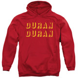 Duran Duran Negative Space Adult Pullover Hoodie Sweatshirt Red