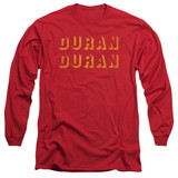 Duran Duran Negative Space Adult Long Sleeve T-Shirt Red