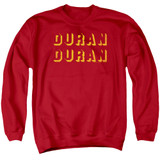 Duran Duran Negative Space Adult Crewneck Sweatshirt Red