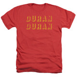 Duran Duran Negative Space Adult Heather T-Shirt Red