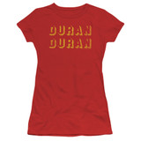 Duran Duran Negative Space Junior Women's Sheer T-Shirt Red