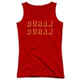 Duran Duran Negative Space Junior Women's Tank Top T-Shirt Red
