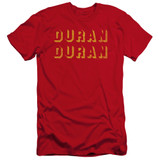 Duran Duran Negative Space HBO Adult 30/1 T-Shirt Red