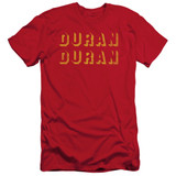 Duran Duran Negative Space Adult 30/1 T-Shirt Red
