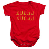 Duran Duran Negative Space Baby Onesie T-Shirt Red