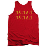 Duran Duran Negative Space Adult Tank Top T-Shirt Red