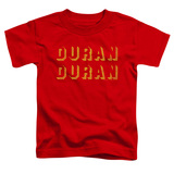 Duran Duran Negative Space Toddler T-Shirt Red