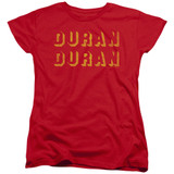 Duran Duran Negative Space Women's T-Shirt Red