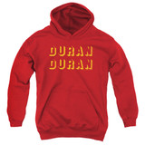 Duran Duran Negative Space Youth Pullover Hoodie Sweatshirt Red