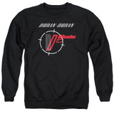 Duran Duran A View Adult Crewneck Sweatshirt Black