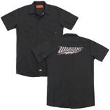 Warrant Warrant Logo (Back Print) Adult Work Shirt Black