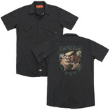 Warrant Stinking Rich (Back Print) Adult Work Shirt Black
