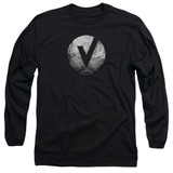 The Vamps V Emblem Long Sleeve Adult 18/1 T-Shirt Black