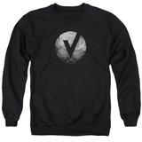 The Vamps V Emblem Adult Crewneck Sweatshirt Black