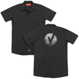 The Vamps V Emblem (Back Print) Adult Work Shirt Black