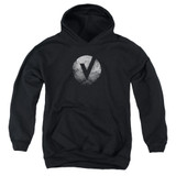 The Vamps V Emblem Youth Pullover Hoodie Sweatshirt Black