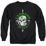Cypress Hill Skull And Arrows Adult Crewneck Sweatshirt Black