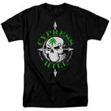 Cypress Hill Skull And Arrows Adult 18/1 T-Shirt Black