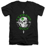 Cypress Hill Skull And Arrows Adult V-Neck T-Shirt Black