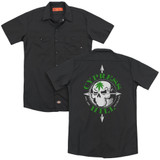 Cypress Hill Skull And Arrows (Back Print) Adult Work Shirt Black