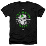 Cypress Hill Skull And Arrows Adult Heather T-Shirt Black