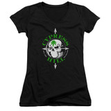 Cypress Hill Skull And Arrows Junior Women's V-Neck T-Shirt Black