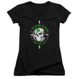 Cypress Hill Skull And Arrows Junior Women's V-Neck T-Shirt Black
