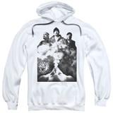 Cypress Hill Monochrome Smoke Adult Pullover Hoodie Sweatshirt White