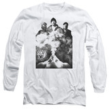 Cypress Hill Monochrome Smoke Adult Long Sleeve T-Shirt White