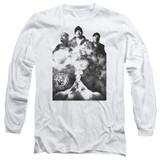Cypress Hill Monochrome Smoke Adult Long Sleeve T-Shirt White
