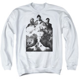Cypress Hill Monochrome Smoke Adult Crewneck Sweatshirt White