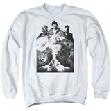 Cypress Hill Monochrome Smoke Adult Crewneck Sweatshirt White