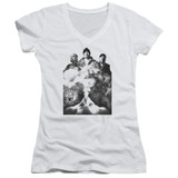 Cypress Hill Monochrome Smoke Junior Women's V-Neck T-Shirt White