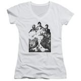 Cypress Hill Monochrome Smoke Junior Women's V-Neck T-Shirt White