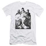 Cypress Hill Monochrome Smoke Adult 30/1 T-Shirt White