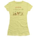 Genesis Trick Of The Tail Junior Women's Sheer T-Shirt Yellow
