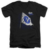 The Vamps Flag S/S Adult V Neck 30/1 T-Shirt Black