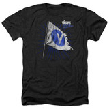 The Vamps Flag Adult Heather T-Shirt Black