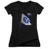 The Vamps Flag Junior Women's T-Shirt V Neck Black