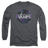 The Vamps Floral Vamps Long Sleeve Adult 18/1 T-Shirt Charcoal