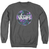The Vamps Floral Vamps Adult Crewneck Sweatshirt Charcoal
