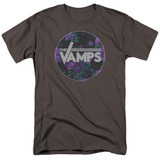 The Vamps Floral Vamps S/S Adult 18/1 T-Shirt Charcoal