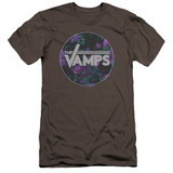 The Vamps Floral Vamps Premium S/S Adult 30/1 T-Shirt Charcoal