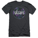 The Vamps Floral Vamps S/S Adult 30/1 T-Shirt Charcoal