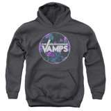 The Vamps Floral Vamps Youth Pullover Hoodie Sweatshirt Charcoal