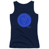 The Vamps Frayed Patch Junior Women's T-Shirts Tank Top Navy