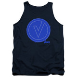 The Vamps Frayed Patch Adult Tank Top Navy