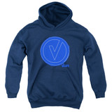 The Vamps Frayed Patch Youth Pullover Hoodie Sweatshirt Navy