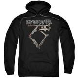 Twisted Sister Bone Logo Adult Pullover Hoodie Sweatshirt Black